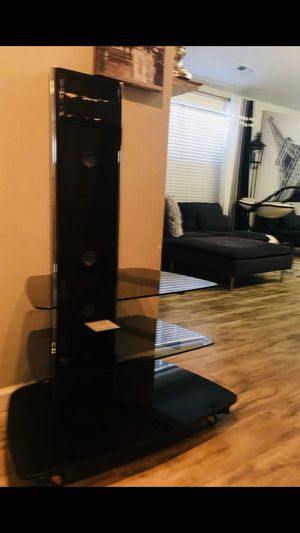 REALLY NICE GLASS TV SHELF/STAND HOLDER! for Sale in Portland, OR