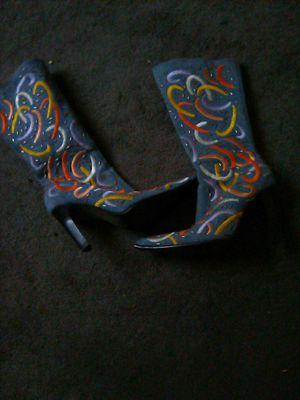 Size 6 vintage spike heel zip up boots for Sale in Las Vegas, NV
