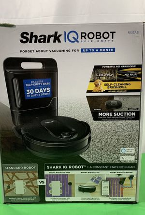 Shark IQ self empty base robot vacuum WiFi connect works with Alexa brand new in the box perfect. Con never used in original packaging for Sale in Las Vegas, NV