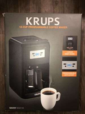 Krups coffee maker 12 cups programmable for Sale in Covina, CA