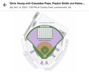 Chris young at coolray field for Sale in Marietta, GA