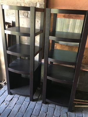 Entertainment Center- console/2 shelves for Sale in St. Petersburg, FL