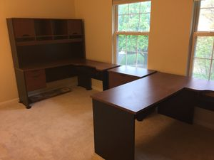 Workstation with hutch. No file cabinet. Best offer for Sale in Montgomery Village, MD