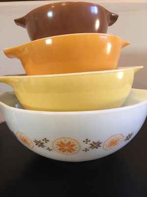 Vintage Pyrex Cinderella Nesting Mixing Bowl Set for Sale in Huntington Beach, CA