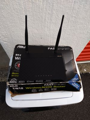Asus RT-N12 3in1 router wireless-N300 for Sale in The Bronx, NY