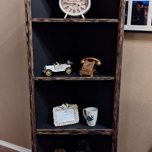 Heavy Solid Wood Black And Rose Gold Tall Corner Shelf for Sale in Beaverton, OR
