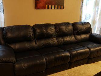 Palliser Power Reclining Couch - Blue for Sale in Carrollton,  TX
