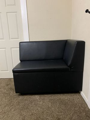 2 leather sectional couches with storage for Sale in San Jose, CA