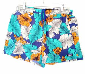 Womens Patagonia Board Swim Shorts Blue Yellow Floral Hawaiian Wavefarer sz M for Sale in Garland, TX