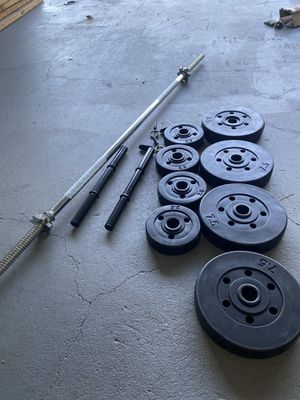 Dumbbells barbell weight for Sale in Santa Ana, CA