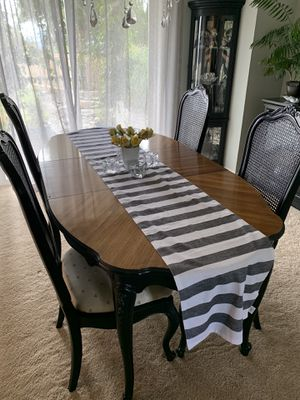 Dining room table 6 chairs solid wood heavy duty for Sale in Tacoma, WA