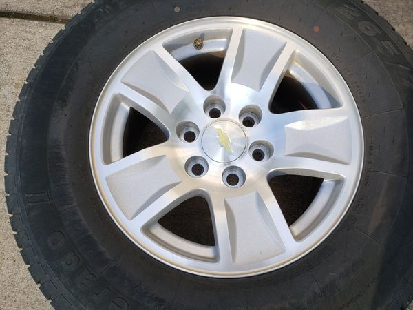 """17"""" chevy/gmc wheels and tires"""