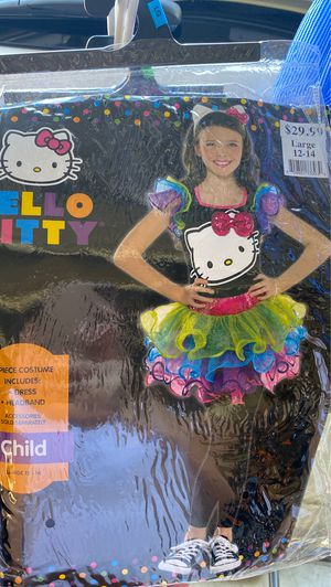 Hello kitty girls Halloween costume size large 12/14 for Sale in Rancho Cucamonga, CA