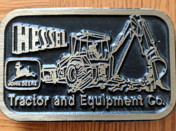 Hessel tractor John Deere belt buckle