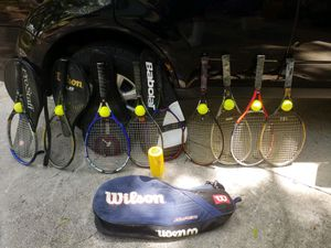 9 upper end tennis rackets for Sale in Tampa, FL