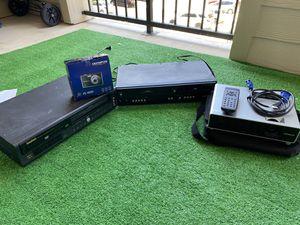 VHS, hitachi projector, Olympus camera for Sale in San Antonio, TX