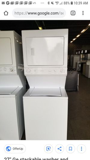 GE or KENMORE STACKABLE WASHER AND DRYER for Sale in San Diego, CA