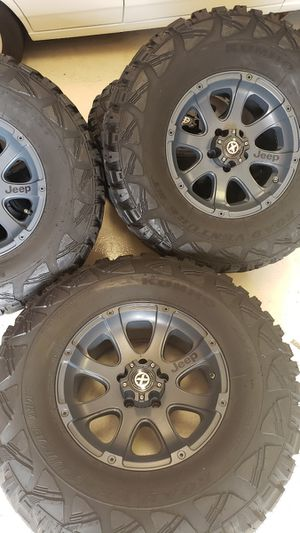 Jeep wrangler wheels and tires for Sale in East Hartford, CT