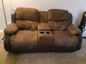 Dual recliners sofa located in hemet for Sale in Hemet, CA