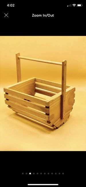 Home Decor Wooden Basket for Sale in Sanford, ME