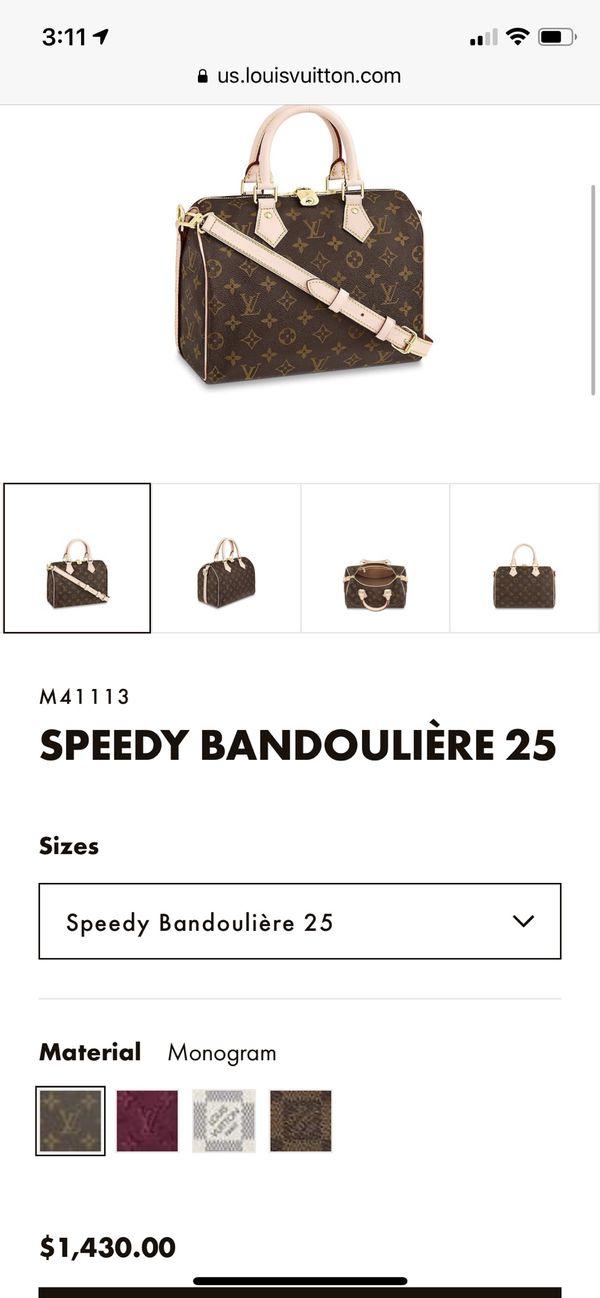NEW Louis Vuitton Speedy 25- great $$$