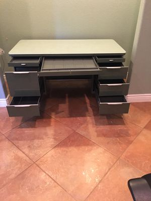 Metal desk with large storage drawers. Must pick up in Foresthill $300 for Sale in Foresthill, CA