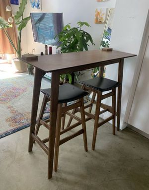 Tall Wooden Dining Table for Two with Chairs for Sale in Hialeah, FL