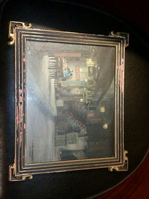 Beautiful Original Photograph Los Angeles Chinatown 1910 Signed Stamped Paul Grenbeaux and in original frame for Sale in Los Angeles, CA