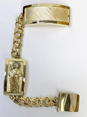 10 karat gold chino link bracelet custom handmade (# MMCH02) for Sale in Houston, TX