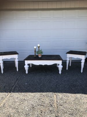 Newly redone coffee table and end table set for Sale in Tacoma, WA