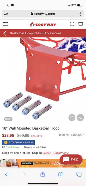 """New 18"""" mounted basketball hoop for Sale in Fresno, CA"""