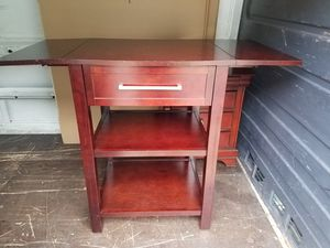 Extendable Table with Drawers & shelf for Sale in Hoboken, NJ