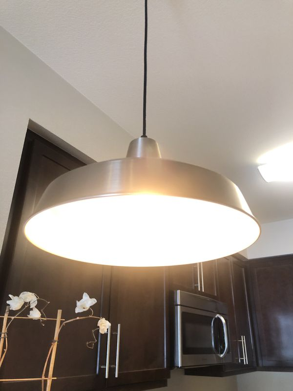 2 Pendant hanging dimmable lights with Edison bulbs - billiard style