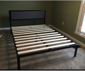 New in a box king size platform bed frame with headboard for Sale in Columbus, OH