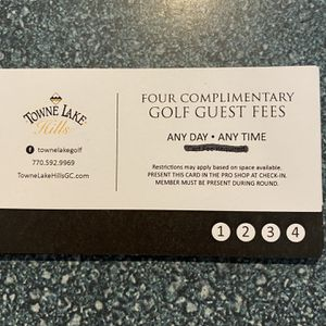 GOLF PASS TOWNLAKE HILLS (4-Rounds ) for Sale in Woodstock, GA
