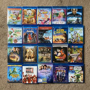 Big lot of Kid's & Children Bluray Movies for Sale in Tacoma, WA