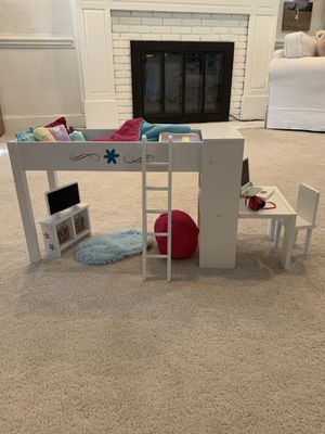 """Journey Girls Loft bed for 18"""" Dolls. (Used for American Girl Dolls) for Sale in Raleigh, NC"""