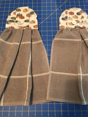 Handmade fall pumpkin kitchen towel set for Sale in New Braunfels, TX