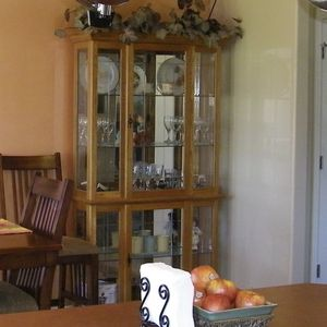 Oak Curio Cabinet for Sale in Gresham, OR
