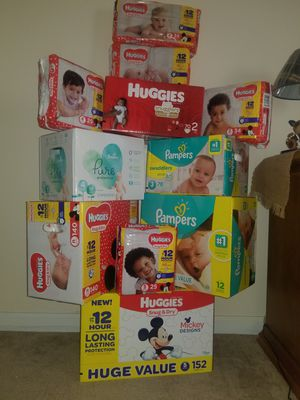Huggies and Pampers Diapers *PLZ SEE DESCRIPTION BOX* for Sale in Decatur, GA
