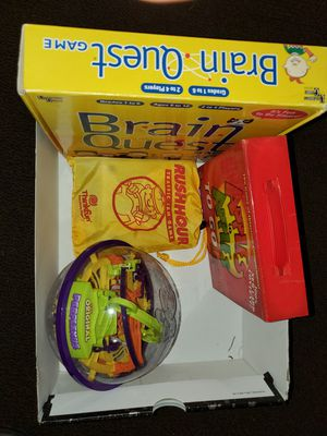 4 Award winning games. Apples to Apples, BrainQuest, Rush hour and Perplexus for Sale in Seattle, WA