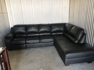 Natuzzi Italian Leather couch. Chaise and recliner for Sale in Baltimore, MD