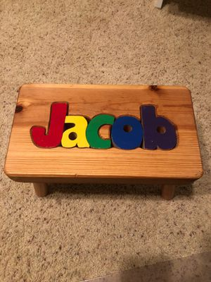 Personalized Wood Name Puzzle Stool for Sale in Medford Lakes, NJ