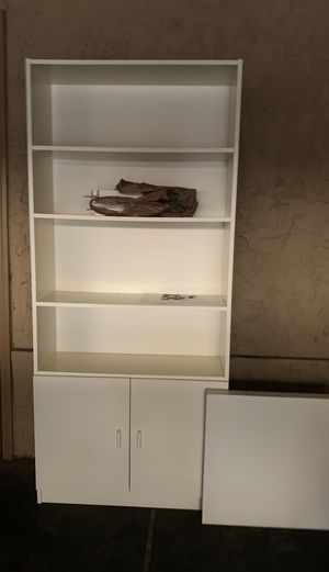 IKEA white shelf and a little table for Sale in Palo Alto, CA
