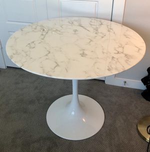 Marble white dining table for Sale in Austin, TX