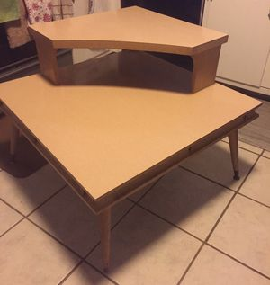 Vintage modern mid century 2-tier corner lamp table for Sale in Whitehall, OH