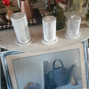 Three Wooden Candle Holders for Sale in Burlington, NC