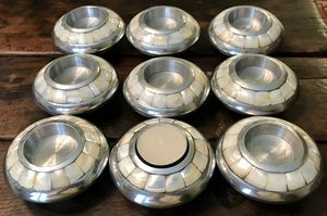 Set of 9 Mother of Pearl & Pewter candleholders ~ Dillard's Biltmore Collection ~ votive candles for Sale in Jackson, MS