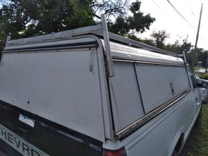 Camper shell with toolbox and ladder rack for Sale in Indianapolis, IN