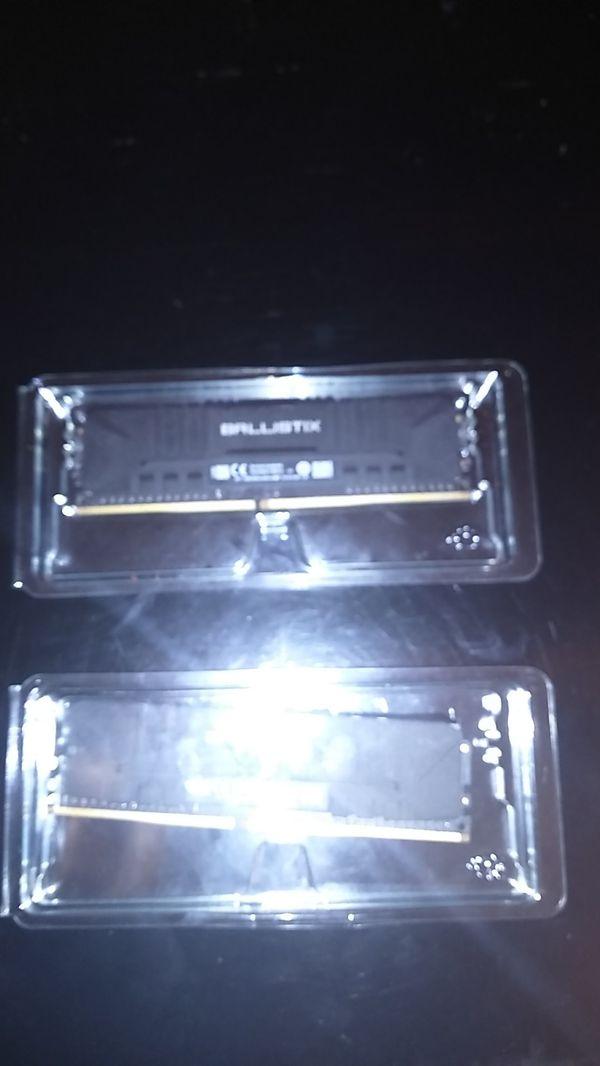 Ballistix ram ddr4 2x4 GB 3000 memory speed.
